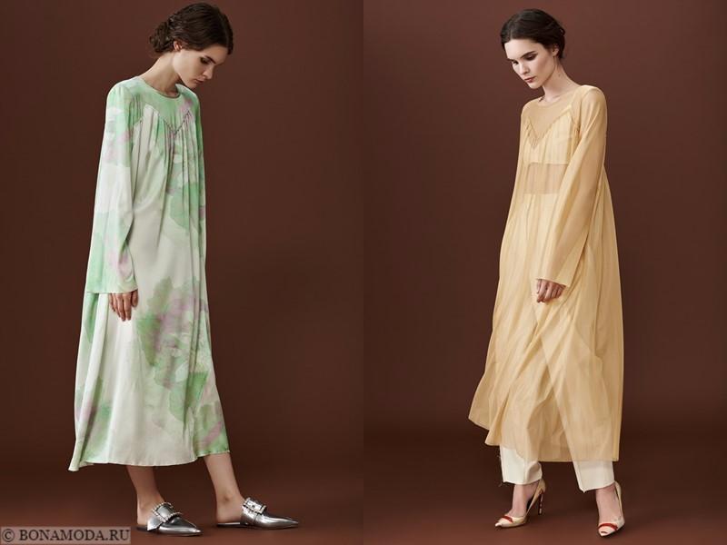 Лукбук коллекции osome2some осень-зима 2017-2018 - длинные платья оверсайз с длинными рукавами