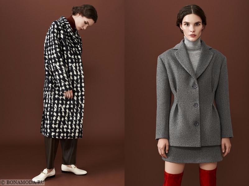 Лукбук коллекции osome2some осень-зима 2017-2018 - пальто оверсайз и серый костюм