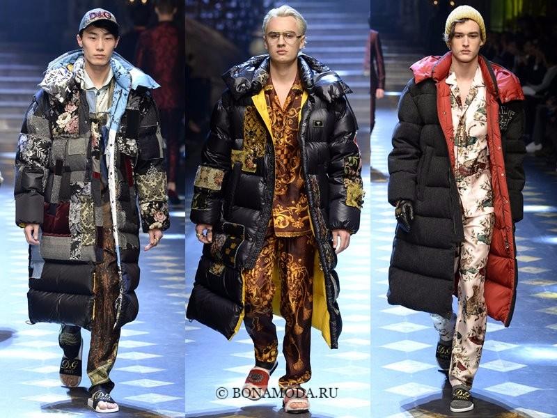 Мужские пальто осень-зима 2017-2018 - Dolce&Gabbana - длинные пуховики