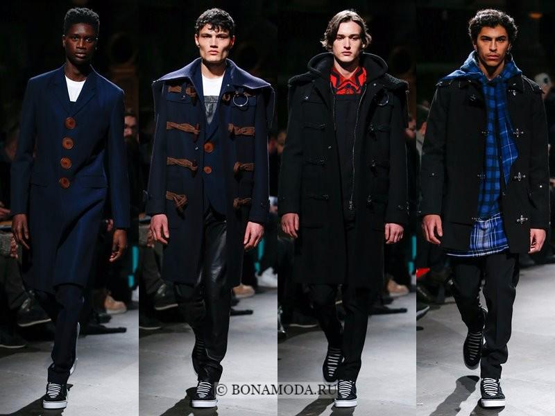 Мужские пальто осень-зима 2017-2018 - Givenchy - черные и темно-синие даффлкоты