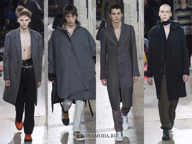 Мужские пальто осень-зима 2017-2018 - Lanvin - серые элегантнеые