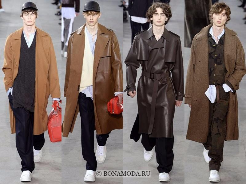 Мужские пальто осень-зима 2017-2018 - Louis Vuitton - бежевые и коричневые