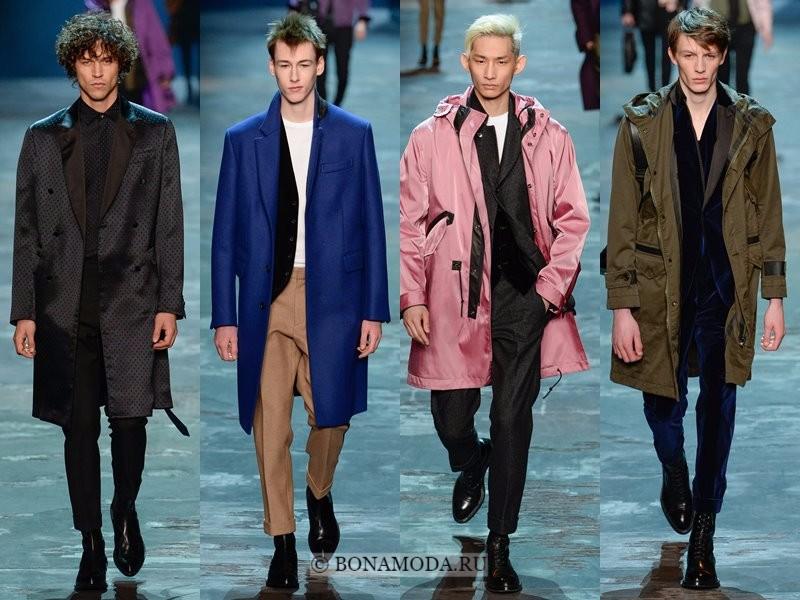 Мужские пальто осень-зима 2017-2018 - Berluti - черное, синее, розовое и хаки