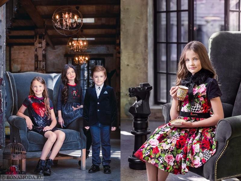 Детская коллекция Choupette осень-зима 2017-2018 - платья с пайетками и цветочным принтом