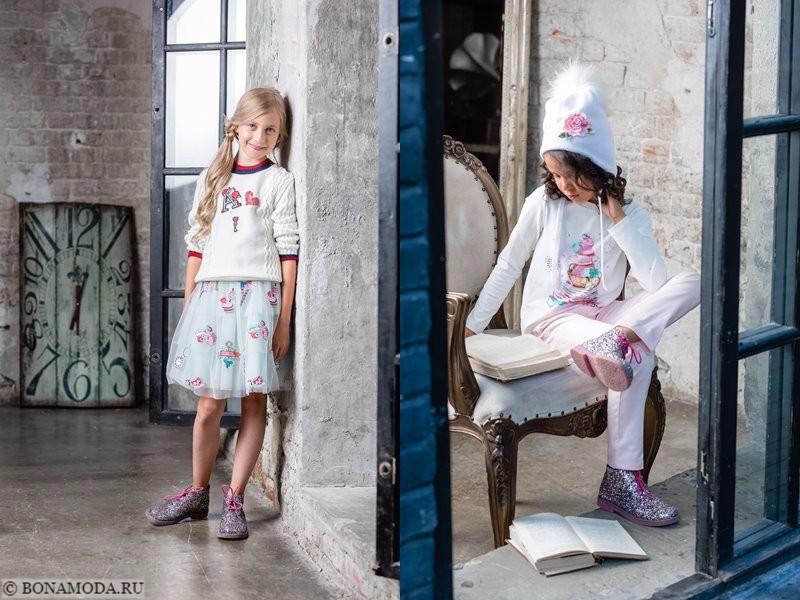 Детская коллекция Choupette осень-зима 2017-2018 - сочетание белого и розового, принты и аппликации
