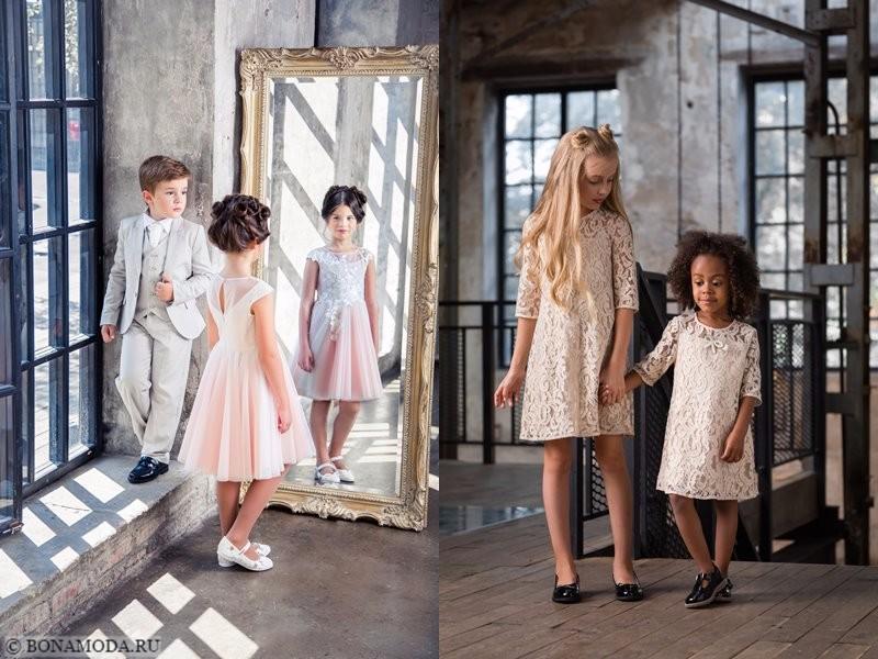 Детская коллекция Choupette осень-зима 2017-2018 - кружевные и тюлевые платья