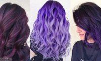 Фиолетовые волосы: сливово-баклажановая мода