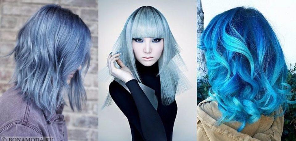 Голубые волосы: причёски современной Мальвины
