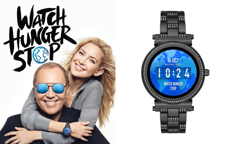 Michael Kors Watch Hunger Stop - Кейт Хадсон и Майкл Корс с часами Sofie