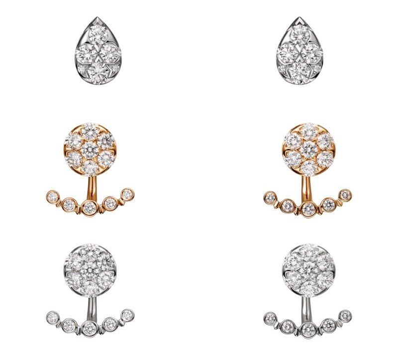 Коллекция Etincelle de Cartier 2017 - серьги из белого, желтого золота с бриллиантами