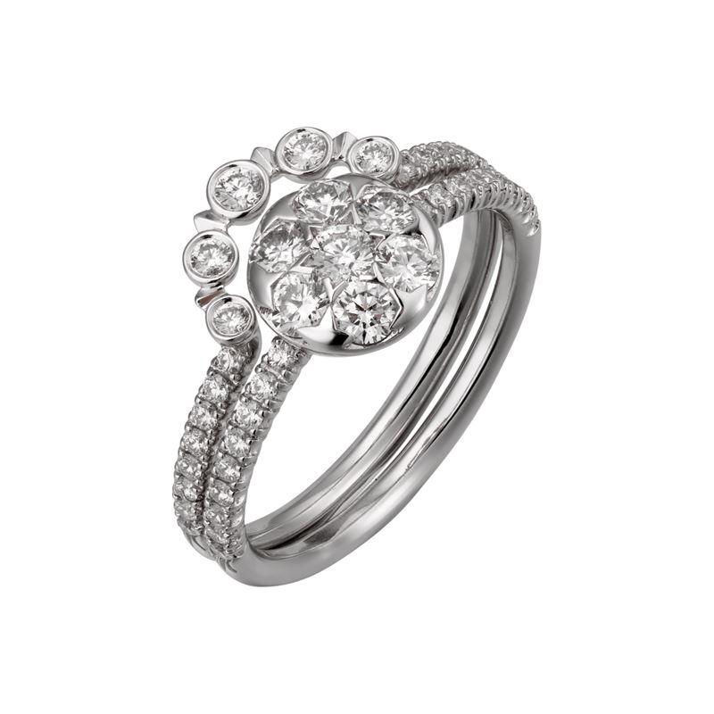 Коллекция Etincelle de Cartier 2017 - кольцо из белого золота с бриллиантами