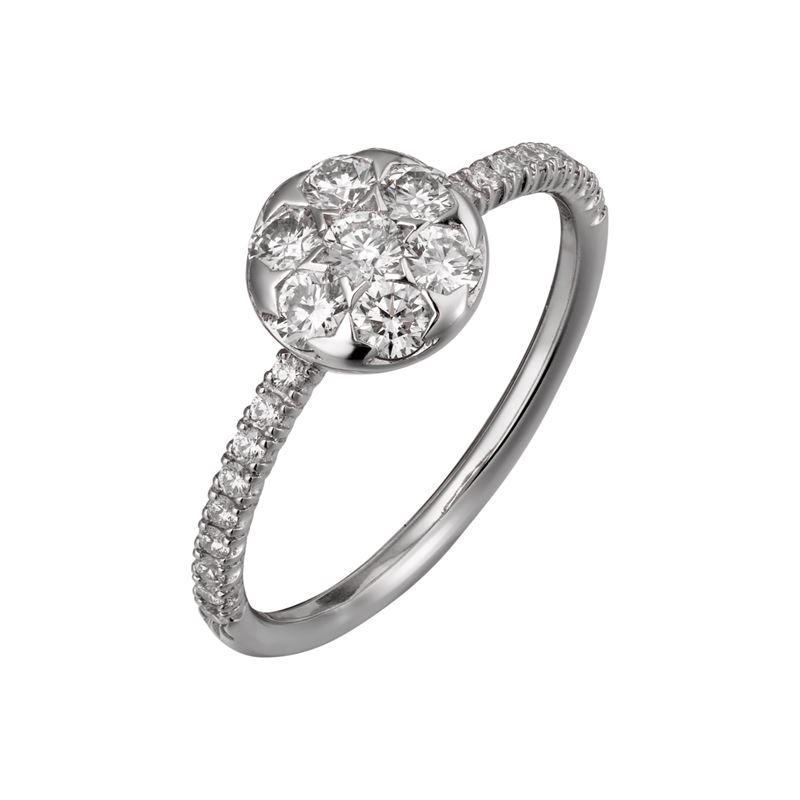 Коллекция Etincelle de Cartier 2017 - круглое кольцо из белого золота с бриллиантами