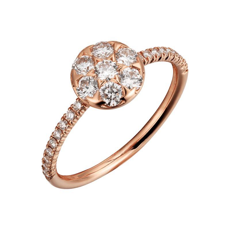 Коллекция Etincelle de Cartier 2017 - круглое кольцо из желтого золота с бриллиантами