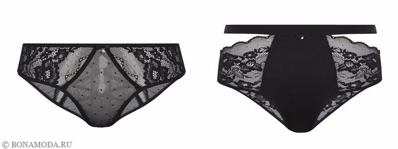 Капсульная коллекция Women'secret осень-зима 2017 - чёрные кружевные трусики