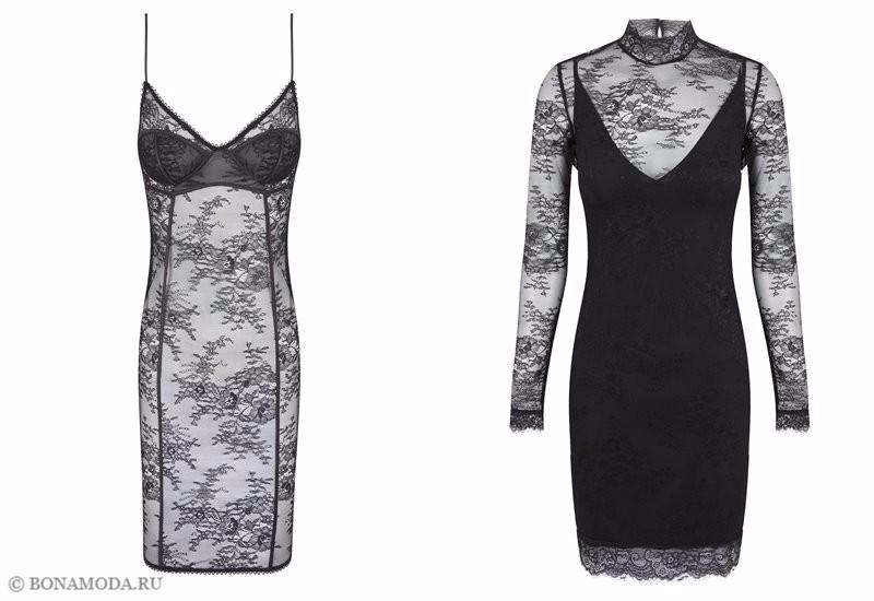 Капсульная коллекция Women'secret осень-зима 2017 - чёрные кружевные сорочки