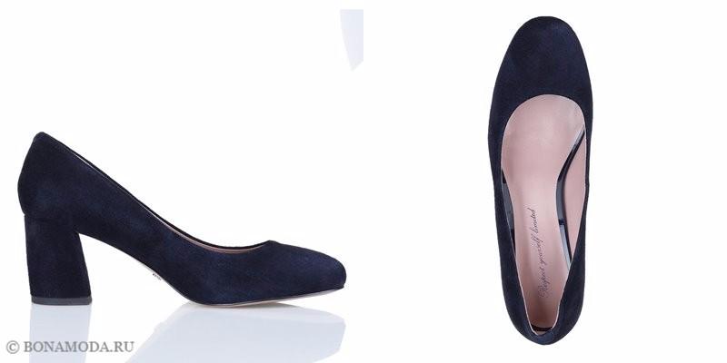 Коллекция обуви Respect осень-зима 2017-2018 - замшевые туфли на низком устойчивом каблуке