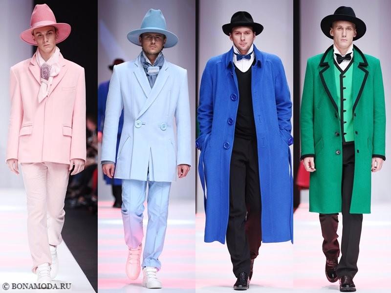 Коллекция Slava Zaitsev весна-лето 2018 - пастельные костюмы и синие и зеленые пальто