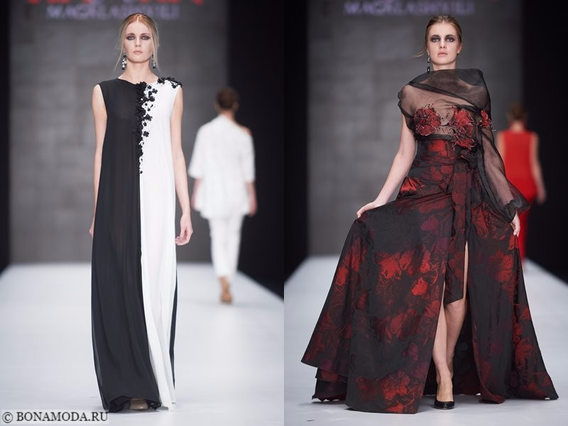 Коллекция Tinatin Magalashvili весна-лето 2018 - чёрно-белое и красно-чёрное платья