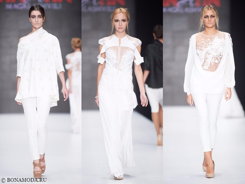 Коллекция Tinatin Magalashvili весна-лето 2018 - белый тотал лук