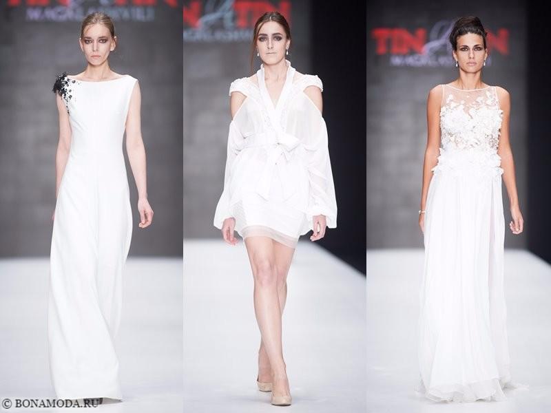 Коллекция Tinatin Magalashvili весна-лето 2018 - белые платья с цветочным декором