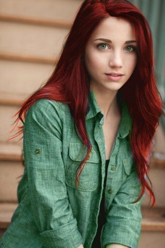Красные волосы - горячий красно-кирпичный оттенок