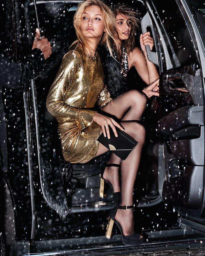 MICHAEL Michael Kors Holiday 2018 - золотое коктейльное платье