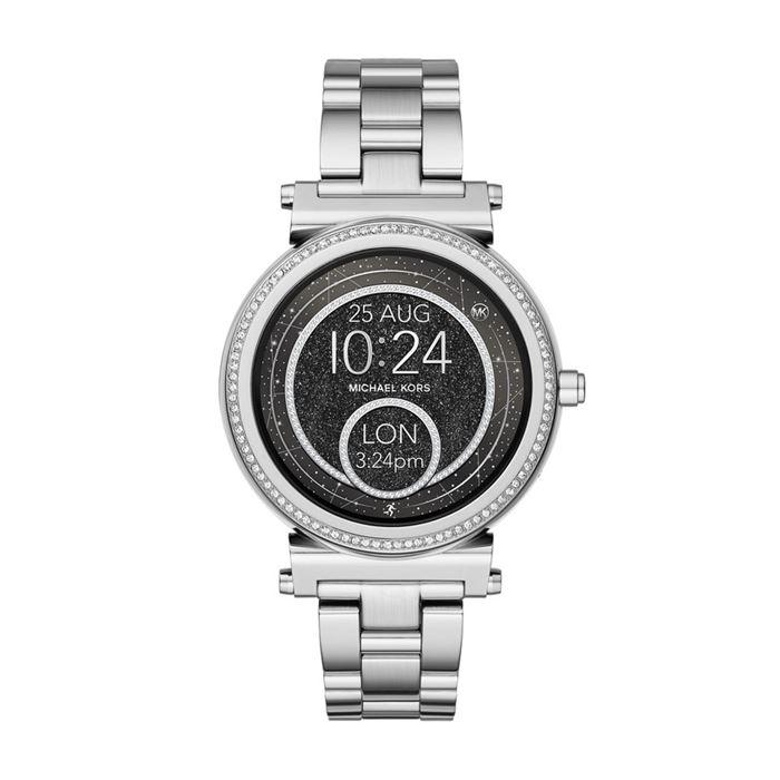 Michael Kors Sofie Smartwatch x Google Assistant - серебристый корпус и чёрный циферблат
