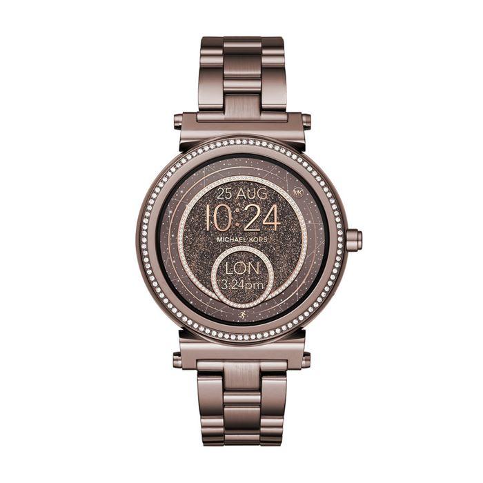 Michael Kors Sofie Smartwatch x Google Assistant - коричневая сталь и кристаллы