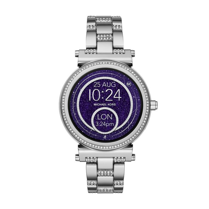 Michael Kors Sofie Smartwatch x Google Assistant - сталь, фиолетовый циферблат и кристаллы