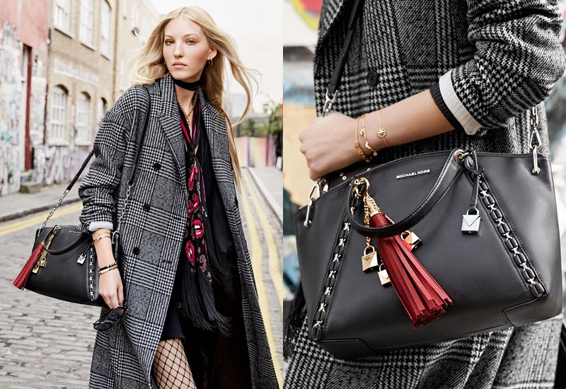 Рекламная кампания Michael Kors The Walk - сумка Sadia Bag - британская модель Элла Ричардс