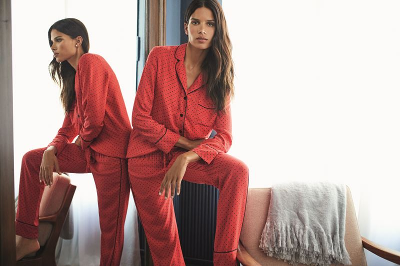Women'secret - пижама красная в черный горошек