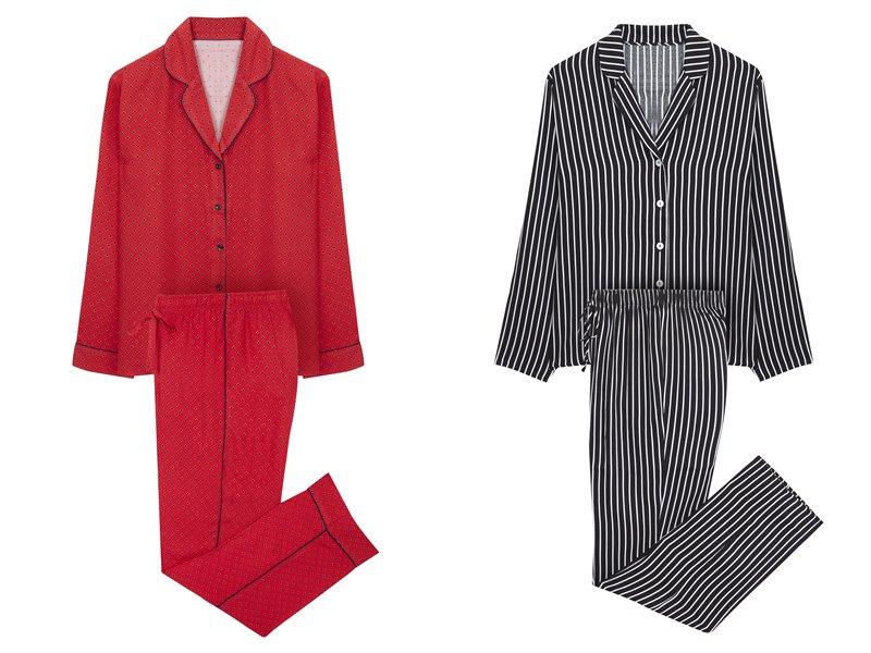 Women'secret - пижама - красная в черный горох и черно-белая в полоску