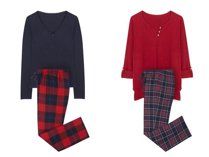 Women'secret - пижама - домашняя одежда - красный и синий лонгслив и красно-синие штаны в клетку