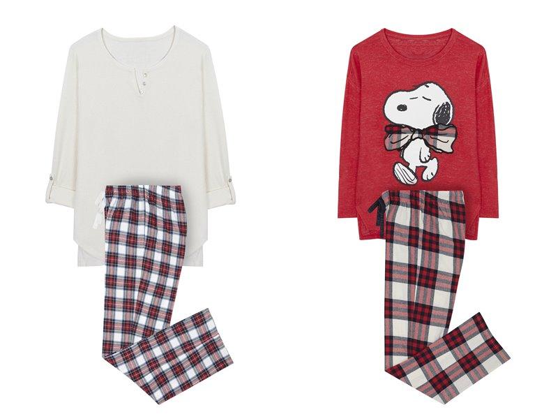 Women'secret - пижама - домашняя одежда - красный и белый лонгслив и красно-белые штаны в клетку