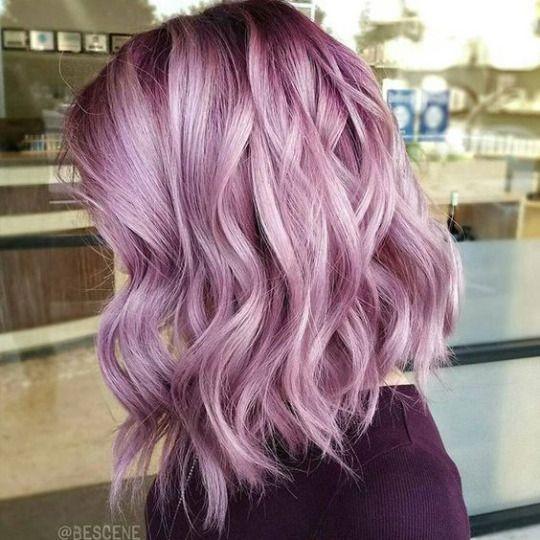 Сиреневые и лиловые волосы: боб-каре сиренево-розового оттенка