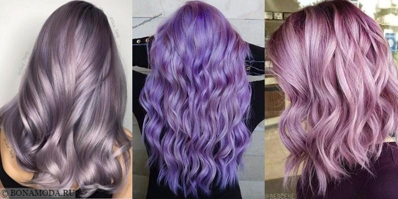 Сиреневые и лиловые волосы: лавандовые и фиалковые фантазии