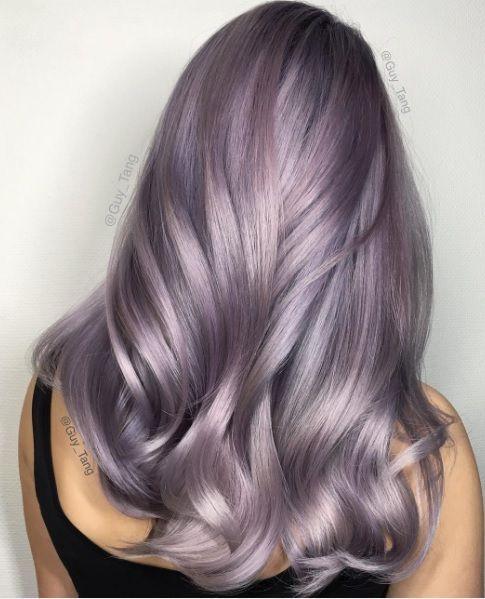 Сиреневые и лиловые волосы: пепельные сияющие
