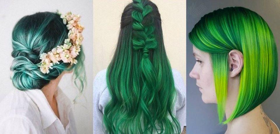 Зелёные волосы: модная цветотерапия