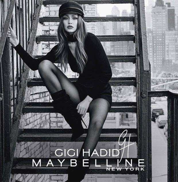 Coast to Coast - рекламная кампания Maybelline и Джиджи Хадид - образ коллекции East Coast