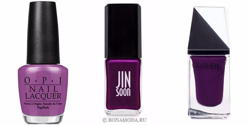 Цвета лака для ногтей 2018: модные новинки - яркий насыщенный тёмный фиолетовый