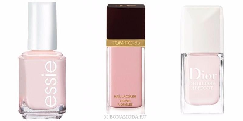 Цвета лака для ногтей 2018: модные новинки -  светлый пастельный розовый кварц