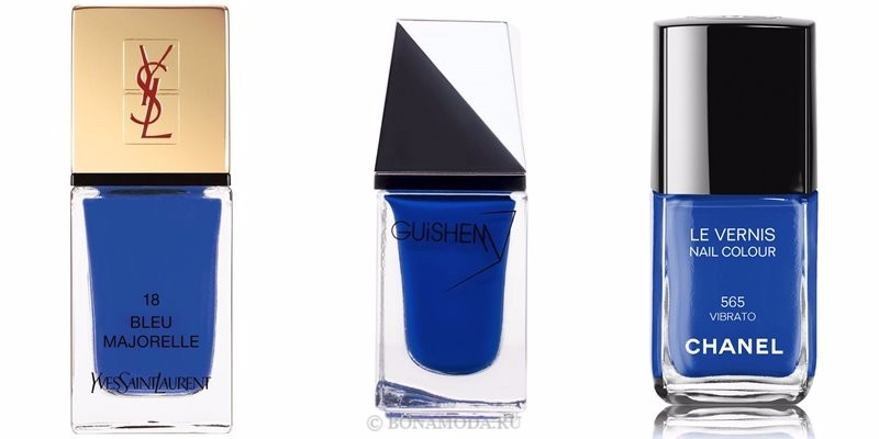 Цвета лака для ногтей 2018: модные новинки - яркий королевский синий