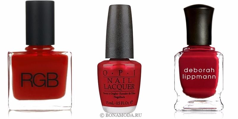 Цвета лака для ногтей 2018: модные новинки - классический алый красный