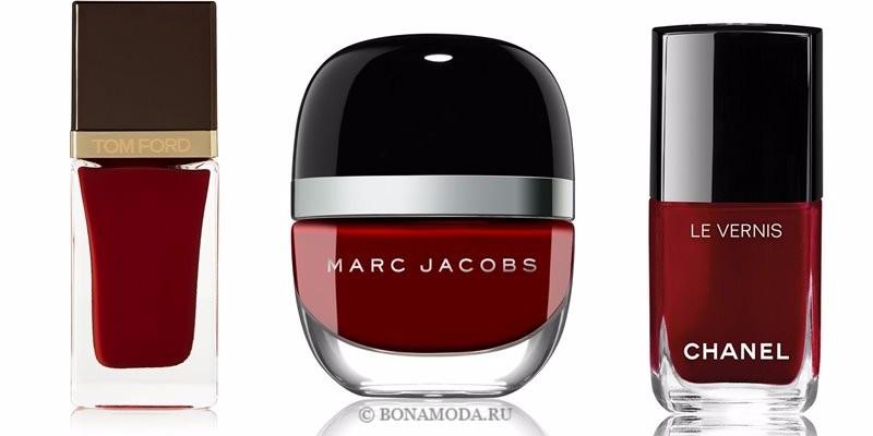 Цвета лака для ногтей 2018: модные новинки - насыщенный тёмно-красный