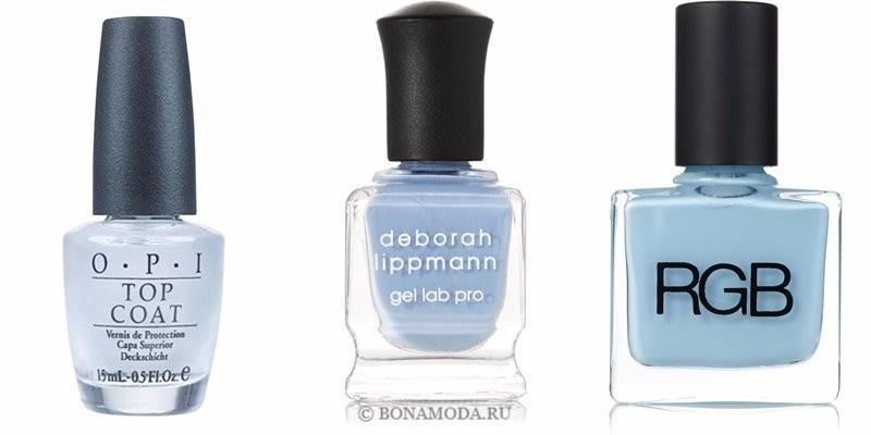 Цвета лака для ногтей 2018: модные новинки - морозный холодный светло-голубой