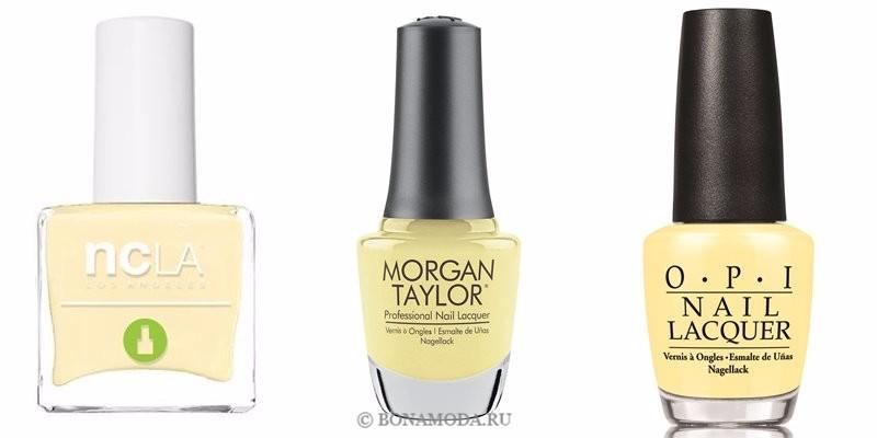 Цвета лака для ногтей 2018: модные новинки - светлый жёлтый ванильный
