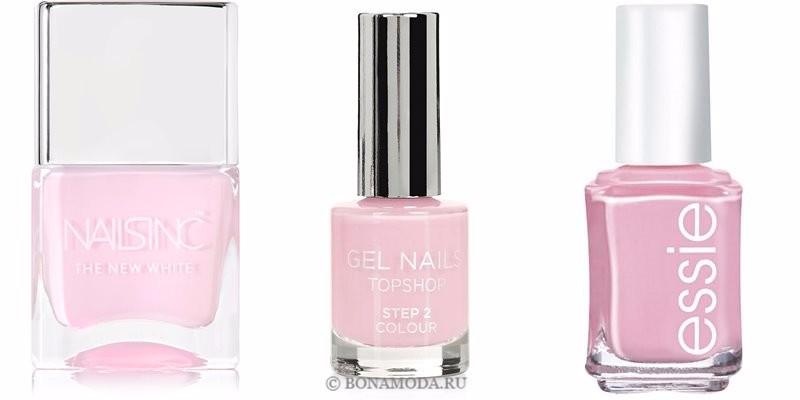 Цвета лака для ногтей 2018: модные новинки - холодный светло-розовый