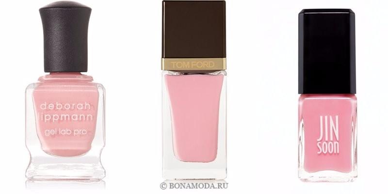 Цвета лака для ногтей 2018: модные новинки - тёплый сладкий розовый