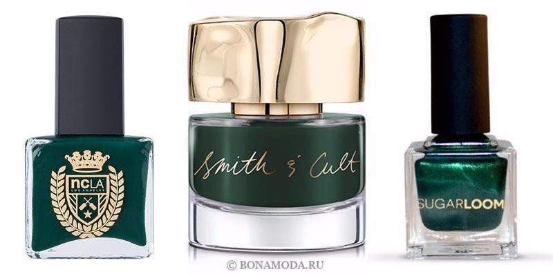 Цвета лака для ногтей 2018: модные новинки - глянцевый и перламутровый насыщенный зелёный