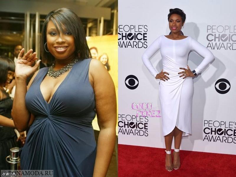 Истории похудения звёзд – фото до и после - Дженнифер Хадсон - похудела на 40 кг